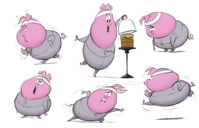 Mark Oftedal, Piggy Poses Model Sheet